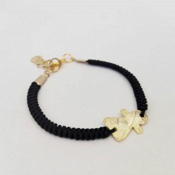 Bracelet avec fétiche doré