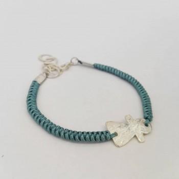 Bracelet avec fetiche en argent