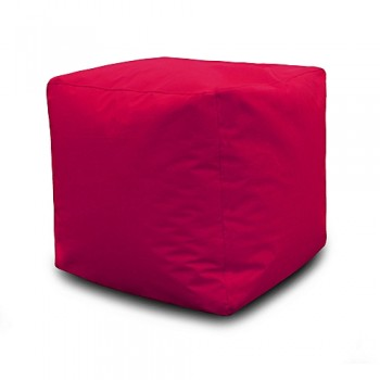 Pouf Carré 40*40*40 cm - Rouge Bordo
