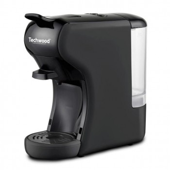 Machine à Café Expresso 2 en 1 TECHWOOD NESPRESSO & DOLCE GUSTO TCA-195N 1450W - Noir