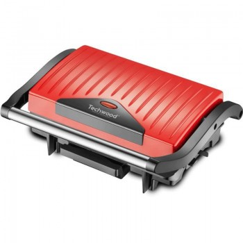 Grille Panini TECHWOOD TGD-015 - Rouge