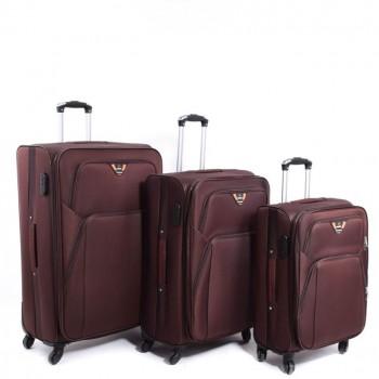 Set de 3 valises Herwex - En Toile Marron