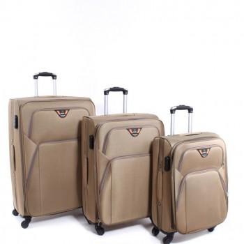 Set de 3 valises Herwex - En Toile Beige