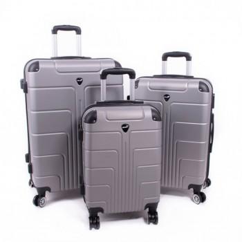 Set de trois valises ABS Herwex - Gris