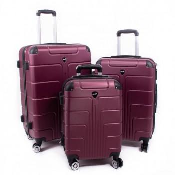 Set de trois valises ABS Herwex - Violet