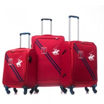 Set De Trois valises Beverly Hills Polo Club Rouge