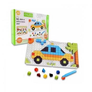 Puzzle en briques 4 en 1 pour enfant