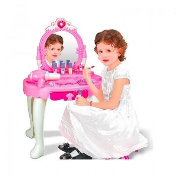 Coiffeuse avec miroir et tabouret pour fille