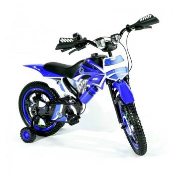 Bicyclette Moto-Cross pour enfant 4 - 6 ans - Bleu