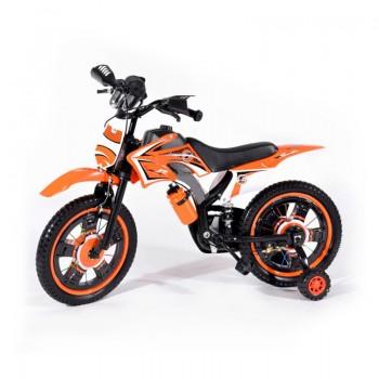 Bicyclette Moto-Cross pour enfant 4 - 6 ans - Orange