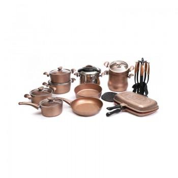 Batterie de cuisine en Granite OMS Collection - 24 pièces - Bronze - Jacaranda Tunisie