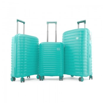 Set de 3 valises Ground en Polypropylène - Vert d'eau - 10631-LightGreen - Jacaranda Tunisie