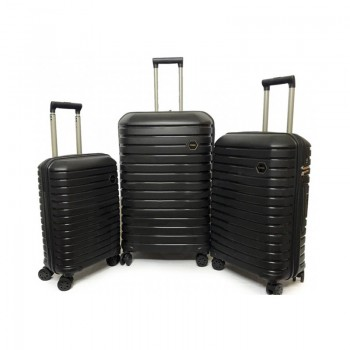 Set de 3 valises Ground en Polypropylène - Noir - 10631-BLACK - Jacaranda Tunisie
