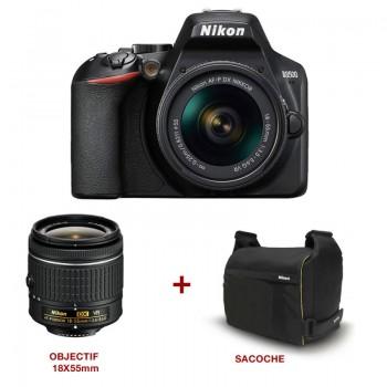 Appareil photo Reflex NIKON D3500 + Objectif 18-55 mm + sacoche