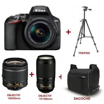 Appareil Photo NIKON D3500 + Objectifs +Sacoche+Trépied