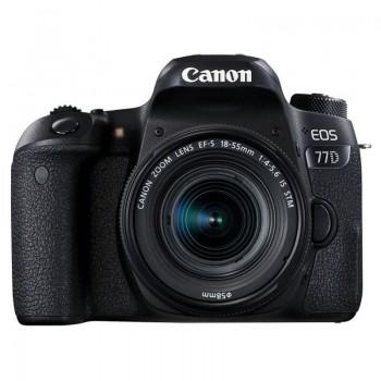 Appareil Photo Reflex CANON EOS 77D + Objectif 18-55mm IS Noir