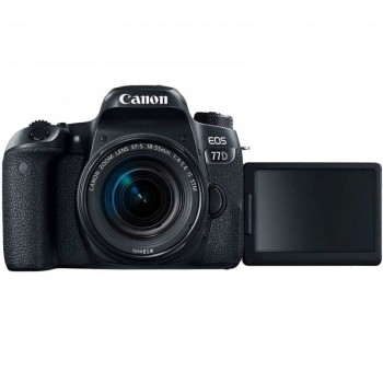 Appareil Photo CANON EOS 77D 24.2 MP Noir + Objectif 18-135 mm