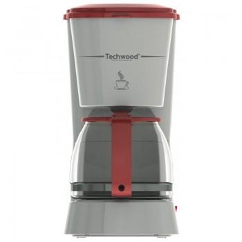 Cafetière Electrique Techwood 6 tasses - Blanc Rouge