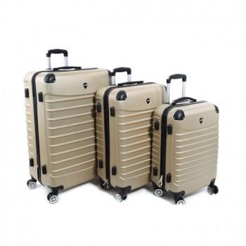 Set de trois valises Herwex - Champagne
