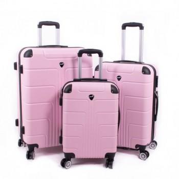 Set de trois valises ABS Herwex - Rose