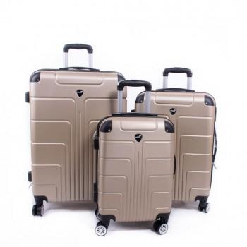 Set de trois valises ABS Herwex - Champagne
