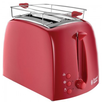 Grille Pain Toaster Textures Russell Hobbs - Rouge