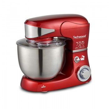 Robot Pétrin Techwood Stand Mixer 1000W - Rouge