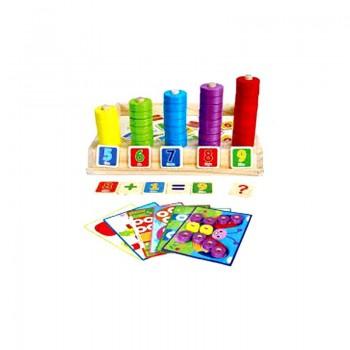 Puzzle et boîte de comptage en bois pour enfant
