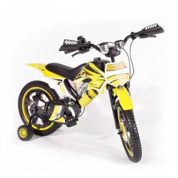 Bicyclette Moto-Cross pour enfant 4 - 6 ans - Jaune