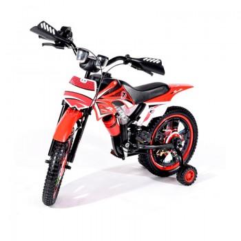 Bicyclette Moto-Cross pour enfant 4 - 6 ans - Rouge
