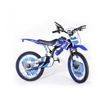 Bicyclette Moto-Cross pour enfant 8 - 12 ans - Bleu - Jacaranda Tunisie