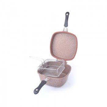 Batterie de cuisine Multicuiseur (Multicooker) en Granite OMS Collection - 7 pièces - Beige - Jacaranda Tunisie