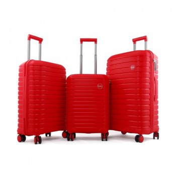 Set de 3 valises Ground en Polypropylène - Rouge - 10631-RED - Jacaranda Tunisie