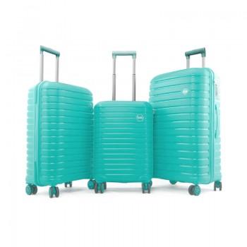Set de 3 valises Ground en Polypropylène - Vert d'eau - 10631-LightGreen - Jacaranda Tunisie