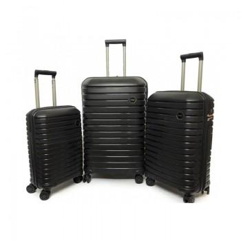 Set de 3 valises Ground en Polypropylène - Noir - 10631-BLACK - Jacaranda Tunisie