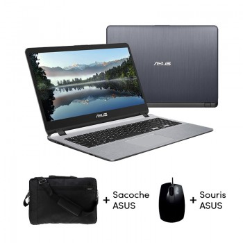 PC Portable Asus X507MA - Celeron - 4Go - 1To - Windows 10 - Gris - X507MA-NR429T - Jacaranda Tunisie