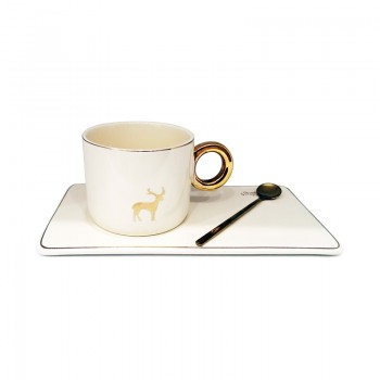 Tasse à café Céramique - Crème - Jacaranda Tunisie