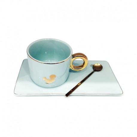 Tasse à café Céramique - Blanc - Jacaranda Tunisie