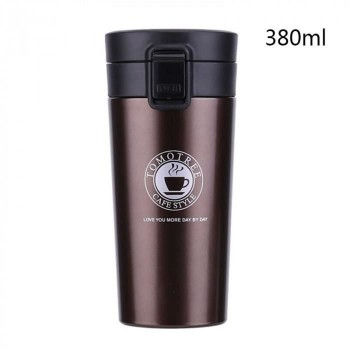 Thermos De Café - Acier Inoxydable - Marron