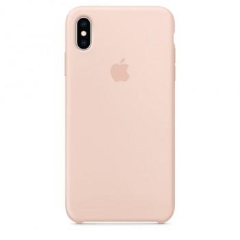 Coque en silicone pour iPhone XS Max - Rose des sables
