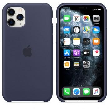 Coque en silicone pour iPhone 11 Pro - Bleu nuit