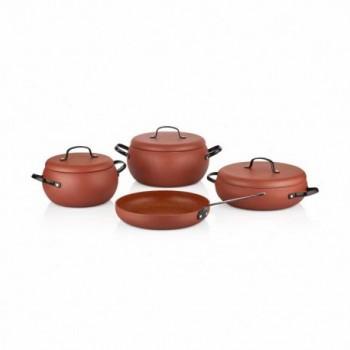 Set de 7 pièces Korkmaz LUMİA Cookware Rouge